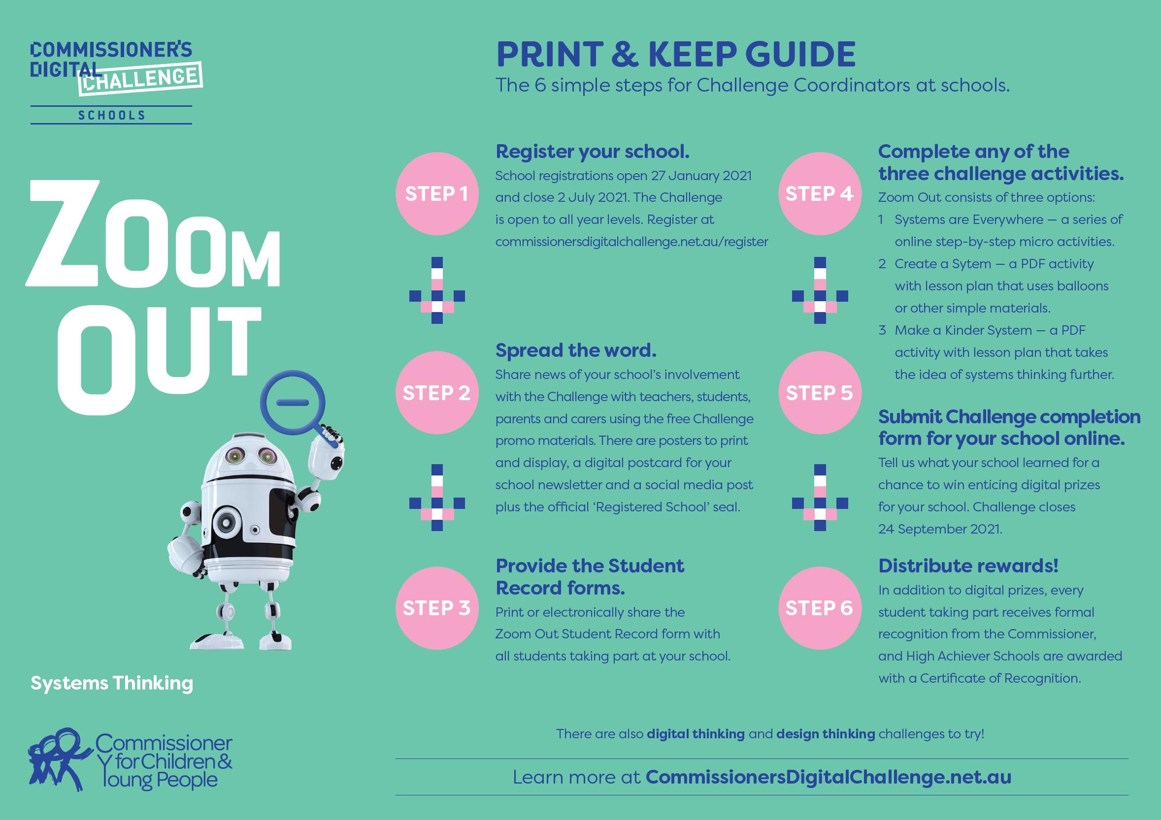 Print & Keep Guide - Six steps for Challenge Coordinators
